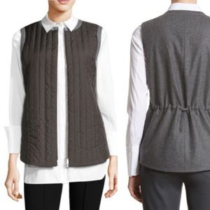 Lafayette 148 NY Quilted Bailey Alpine Zip Up Vest